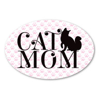 Cat Mom Oval Magnet