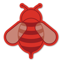 Red Bee Magnet
