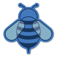 Blue Bee Magnet