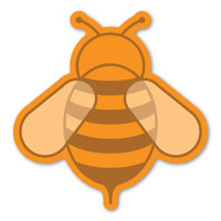 Orange Bee Magnet