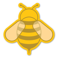 Yellow Bee Magnet