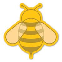 Yellow Bee Magnet