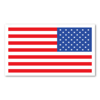 Mini Reversed American Flag Rectangle Magnet