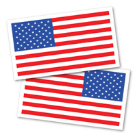 American Flag/ Reversed Flag Rectangle Magnet Pack