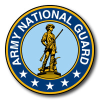 National Guard Seal Circle Sticker