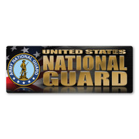National Guard Chrome Bumper Strip  Magnet