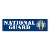 National Guard Bumper Strip Magnet