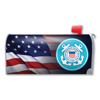 American Flag Coast Guard Mailbox Cover Magnet