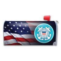 American Flag Coast Guard Mailbox Cover Magnet