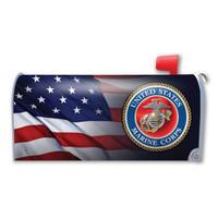 American Flag USMC Mailbox Cover Magnet