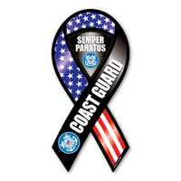 Coast Guard Semper Paratus 2-in-1 Ribbon Magnet