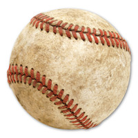 Worn Baseball Magnet