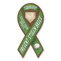 Stolen Base Awareness Ribbon Magnet