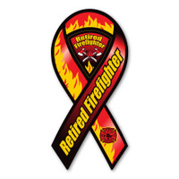 Retired Firefighter Ribbon Magnet
