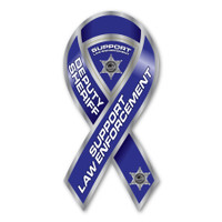 Deputy Sheriff Support Law Enforcement Ribbon Magnet