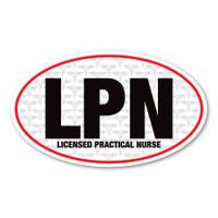 LPN Oval Magnet