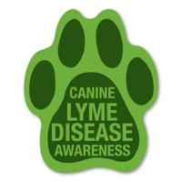 Canine Lyme Disease Awareness Paw Magnet
