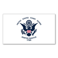 Coast Guard Flag Sticker Sticker
