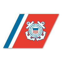 "Coast Guard ""Racing Stripe"" Logo Sticker"