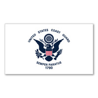 Coast Guard Mini Flag Decal