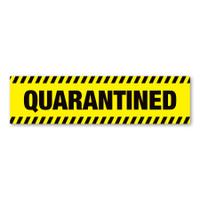 Quarantined Car Bumper Strip Magnet