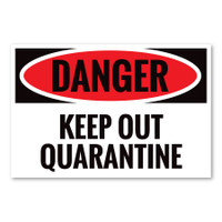 Danger Keep Out Quarantine Rectangle Magnet