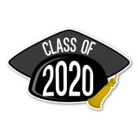 2020 Black Grad Cap Magnet