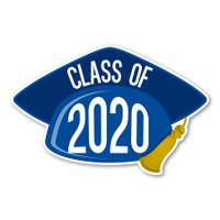 2020 Blue Grad Cap Magnet
