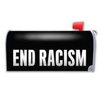 End Racism Mailbox Cover Magnet