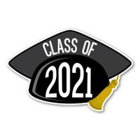 2021 Black Grad Cap Magnet