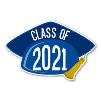 2021 Blue Grad Cap Magnet