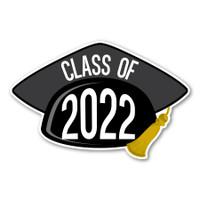 2022 Black Grad Cap Magnet