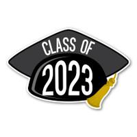 2023 Black Grad Cap Magnet