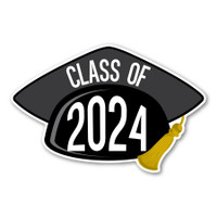 2024 Black Grad Cap Magnet