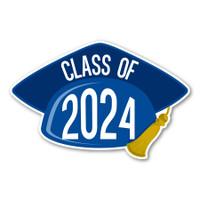 2024 Blue Grad Cap Magnet