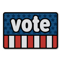 Vote Rectangle Decal