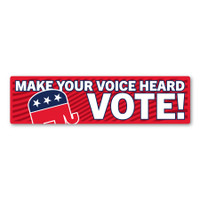 Make Your Voice Heard VOTE! Republican Bumper Strip Magnet