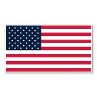 Large Rectangle American Flag Magnet