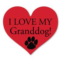I Love My Granddog Bone Magnet Magnet America