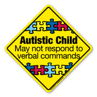 Autistic Child Emergency Alert Sticker