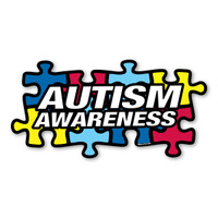 Autism Awareness Puzzle Piece Inside Static Cling