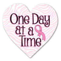 Breast Cancer One Day at a Time Heart Indoor Magnet