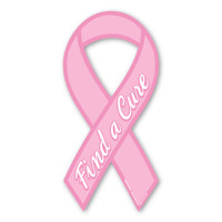 Breast Cancer Find a Cure Ribbon Magnet