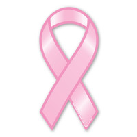Breast Cancer Plain Pink Ribbon Magnet