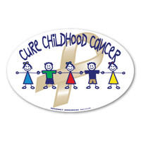 Cure Childhood Cancer Oval Sticker