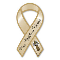 This mini ribbon magnet is a great way to show your support and raise awareness for childhood cancer research.