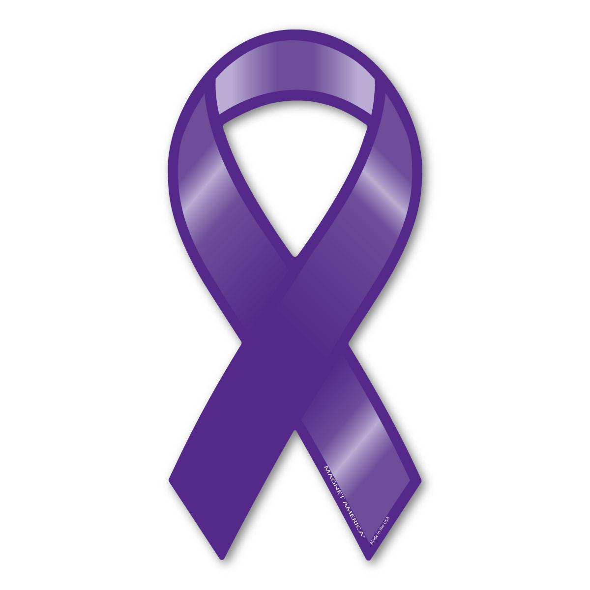 5795595fad3 Plain Purple Ribbon Magnet