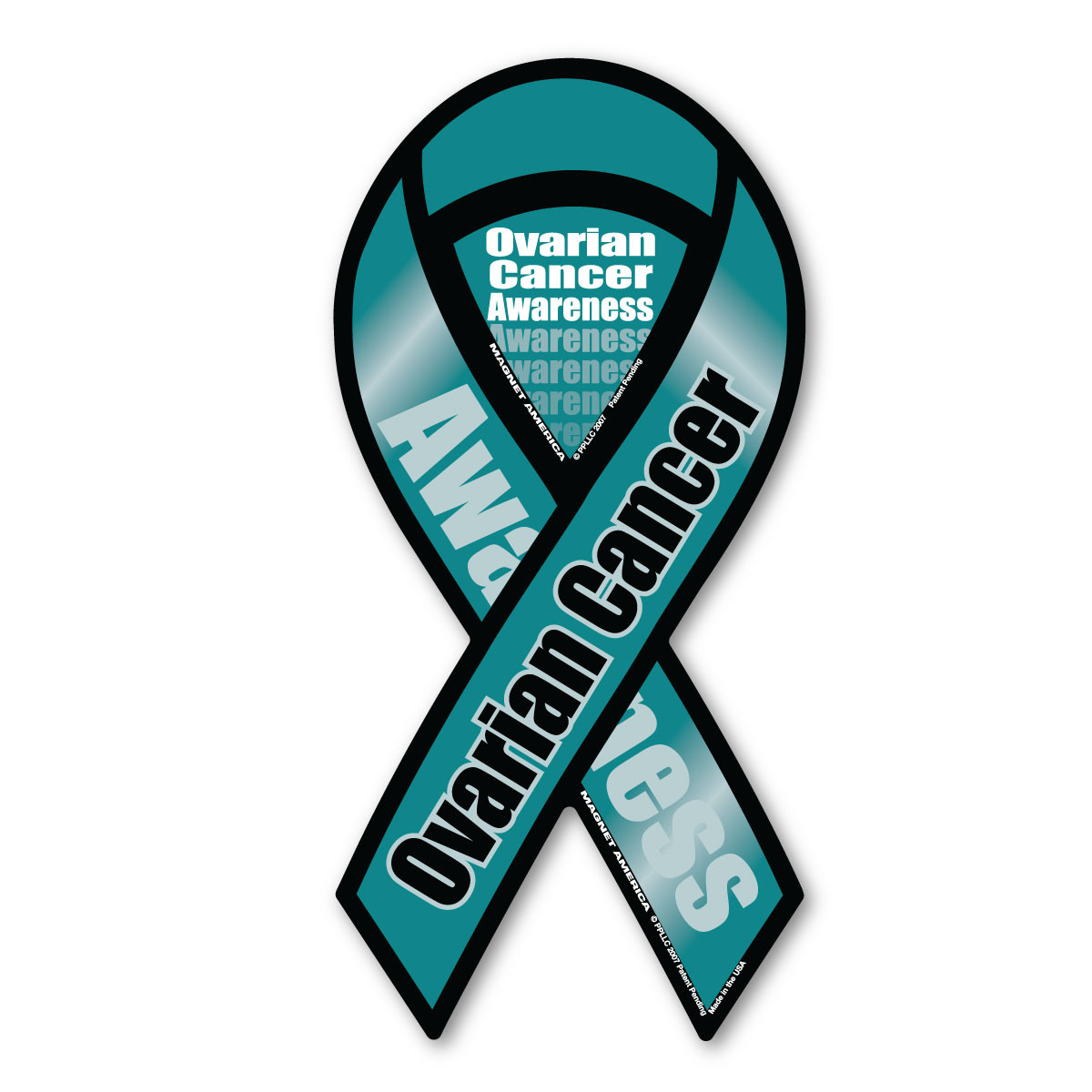 Ovarian Cancer Awareness 2 In 1 Ribbon Magnet Magnet America