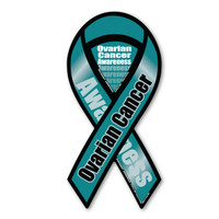 Ovarian Cancer Awareness 2-in-1 Ribbon Magnet