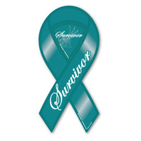 Ovarian Cancer Survivor 2-in-1 Ribbon  Magnet